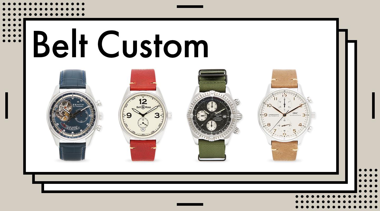 ベルトカスタム腕時計