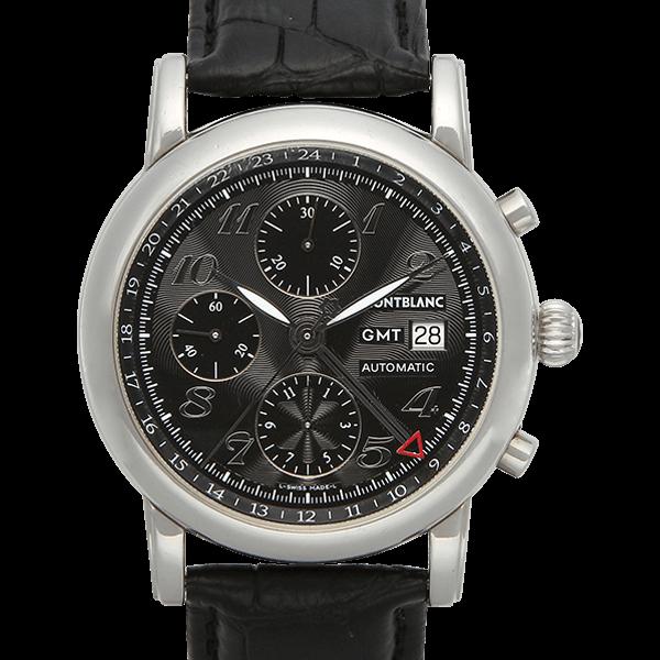 【MONTBLANC】スター クロノグラフ GMT ブラック (※社外ベルト)